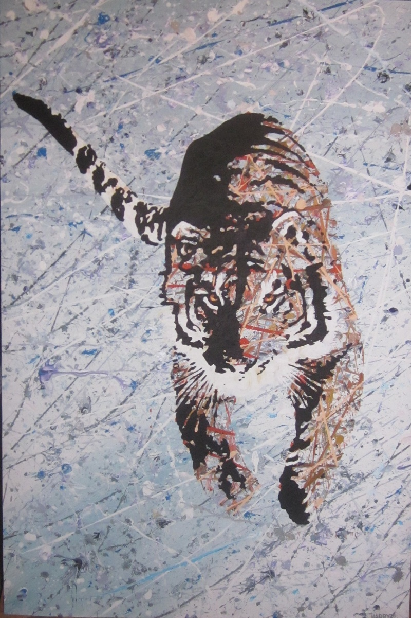 TIGER IN THE SNOW   $600